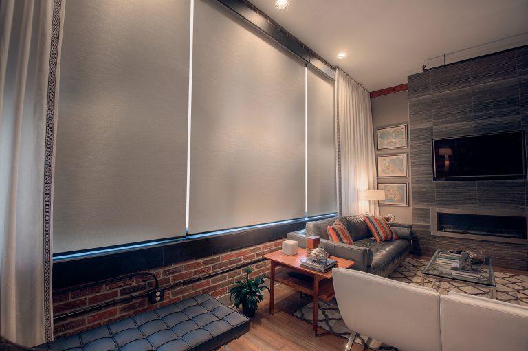 Phifer SheerWeave 7200R Blackout / 7250R filtrado de luz Sun Control Interior